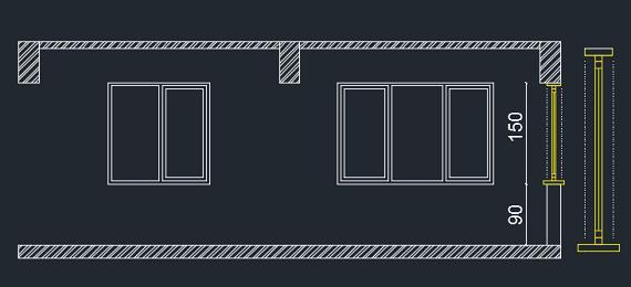 pencere kesit çizimi
